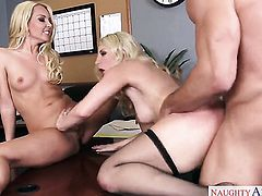 Aaliyah Love with juicy booty and trimmed cunt fucks the sperm out of Johnny Castles sausage