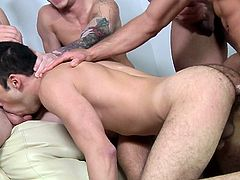 a hot gay orgy with plenty of spunk