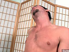 Horny studs Drew Cutler and Jayden Grey are so tempted with each other and finally they give in by doing their nasty raunchy ass fuck in the office's pantry.