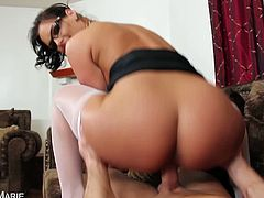 Eat Sleep Porn brings you a hell of a free porn video where you can see how the busty brunette Phoenix Marie gets banged pov style while wearing white stockings.
