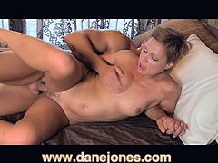 Meet this MILF blonde's passionate lover, they have sex and it is hot. It starts with her working his knob and then he takes over with passion.