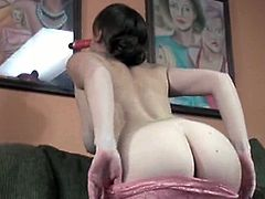 Mariah is a natural redheaded babe with big natural tits. She goes to college, but when she has fun, she stuffs her pussy with a toy and doesn't stop until she cums.