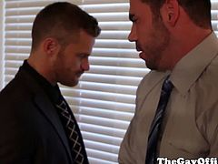 Office hunks Billy Santoro, Landon Conrad fucking