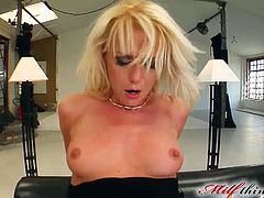 Courtesy of a Milf Thing you can see how a nasty blonde gets her ass fingered and fucked into kingdom come while assuming some very interesting poses in this free porn video.
