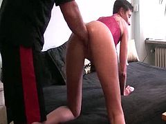 Explicit Initiate housewife brutally fist shaged by her husbands giant hands till she orgasms and her cunts the yawning wreck