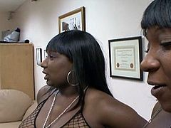 Two ebony take a competition  and suck the cock in this free sex tube.