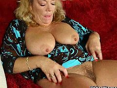 Karen and Dalny have something in common and they are both still horny as fuck and they love doing it arriving at home after work as they peels their pantyhose to pleasure their old cunts.
