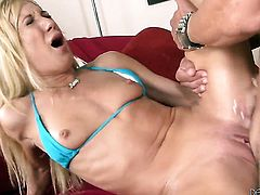 Marco Banderas pulls out his ram rod to fuck Amy Brooke in the backdoor before she gives head