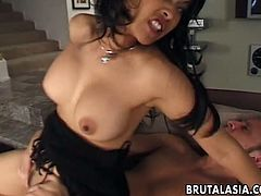 Asian hussy Mika Tan gets her anus fully destroyed by brutal dude