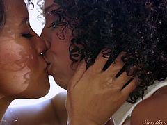 Misty and her Asian girlfriend are two of the hottest lesbians you have ever seen. The ebony goddess licks her Asian lover's vagina so sensually. Watch as she licks those perfect nipples and makes her sex partner go wild.