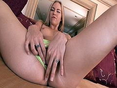 Melani Jayne sits on hard cock on the couch. She is one phenomenal blonde whore that is willing to do anything for the sweetest cum she ever tasted deep inside her wet pussy slit.