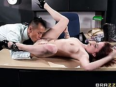 Keni Styles attacks dangerously horny Ashley GrahamS pussy with his love torpedo