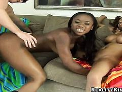 Brunette Lacey Duvalle gets the hole between her legs licked by her lesbian lover Johnny