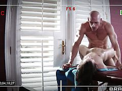Johnny Sins inserts his ram rod in breathtakingly beautiful Lily Carters bum hole