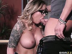Unthinkably hot breathtaker has some time to give some pleasure to hot fuck buddy Xander Corvus