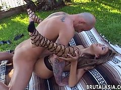 Meaty dick feels so good in stretched and deep Keanni Lei's anal hole