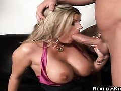 Billy Glide gets his always hard meat pole sucked by Blonde Kristal Summers