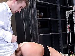 Samantha Saint with juicy tits gets turned on then slammed by Danny D