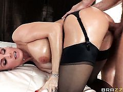 Diamond Foxxx takes Mick Blues fuck stick in her back swing doggystyle