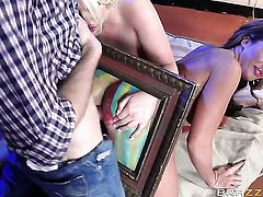 Danny D gets pleasure from fucking gorgeously sexy Julie Cashs beaver