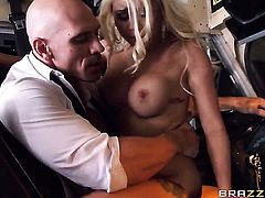 Johnny Sins uses his sturdy boner to bring Marsha May with massive melons to the height of pleasure