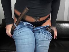 Do you have a passion for slutty mature women? Kitty is a sexy blonde-haired lady, wearing a molded blouse and tight blue jeans. Watch the slut revealing her big tits and crazy ass in front of the camera. She's thrilled to take a cock in her mouth and enjoys when banged hard from behind...