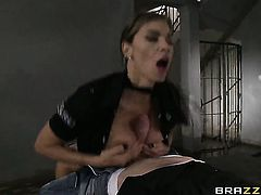 Esperanza Gomez just feels intense sexual desire and sucks Danny Ds man meat like mad