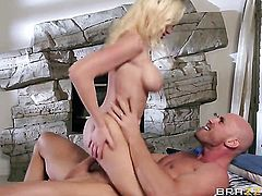Johnny Sins shoves his cock in juicy Madison Scotts mouth