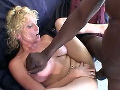 Amateur Blonde MILF Loves Black Cock