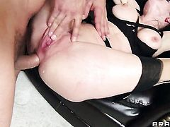 Marco Banderas admires sexy Veronica Avluvs body after she takes his ram rod in her bum hole
