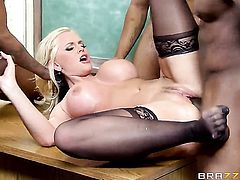 Alena Croft finds her pussy full of love juice after fucking with Jon Jon