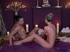 Massage Rooms Young lesbians love to cum