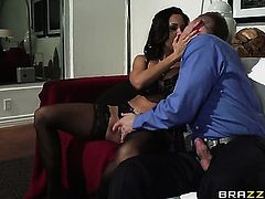 Bill Bailey cant resist horny as hell Ava Addamss attraction and bangs her mouth like crazy