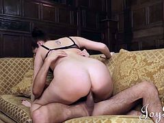 Fleur takes charge of her man, giving his big hard cock some tender attention. This is a great couple´s scene.