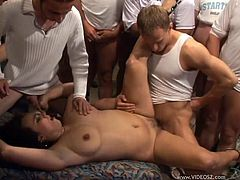 Horny Cougar Gets Fucked By A Group Of Men In A Hardcore Gangbang