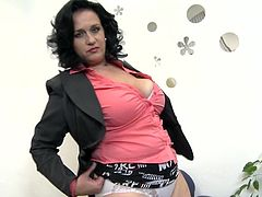 Do you think mature women are hot? Click to meet slutty Raisha, a versed chubby bitch with big tits and big ass. The brunette woman begins to get rid of her clothes, item by item, with slow sensual movements, playing a game of seduction in front of the cameras. See her touching her pussy and more...