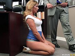 sexy blonde gets fucked during school hours