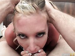 Samantha Saint is one oral slut that gives Jordan Ashs beefy meat pole a try