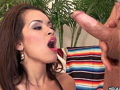 Daisy is a sweet lass with a big chest and a nice style as she fucks her man. She gives up her ass so the dude can stick it up and fuck her silly.