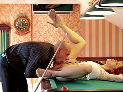 amarna miller gets the fuck of her life on a billiard table
