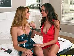 Victoria and Mikayla are two hot girls, who are getting ready to get out on a Friday night. Apparently, they are so hot that even can't take their eyes off of each other. That's why it comes as no surprise, that they start feeling each other up, sucking boobs, even before they know it. Mikayla touches Victoria's clit and makes her all wet with desire.