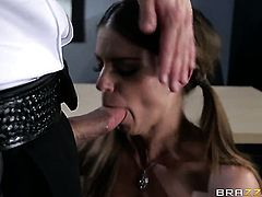Bill Bailey bangs Brooklyn Chase with gigantic breasts as hard as possible in steamy anal action