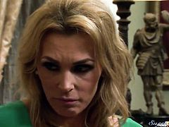 Tanya Tate wraps her lips around Xander Corvuss stiff love wand