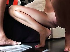 Blonde is horny as hell and sucks dudes rock solid love wand with wild enthusiasm