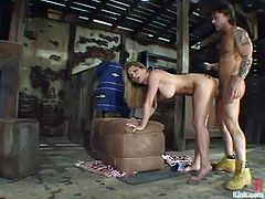 Extremely busty blonde Jenni Lee rides fat cock of Kurt Lockwood