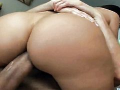 Brunette Sheila Marie gets am anal fuck with hard cocked fuck buddy Sascha before cock sucking