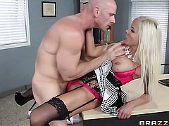 Johnny Sins wants to drill fuck hungry Nina Elles hot mouth forever