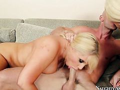 Johnny Sins gets pleasure from fucking Alura Jenson with big booty and bald snatch