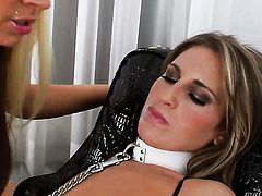 Kara Price gets used like a fuck toy by horny lesbian Skyler Price