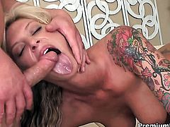 Brooke Banner cant resist the desire to take heavy cum shot on her face